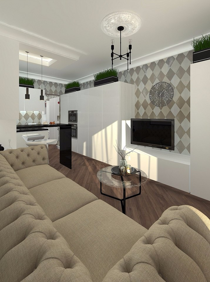 Проект квартиры 28 м.