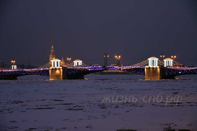 Новогодний дворцовый мост