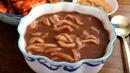 Knife-cut Noodle Soup with Red beans (Pat-kalguksu: 팥칼국수)