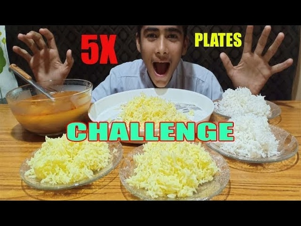 RICE EATING 5X PLEATS 🔥🔥 FOOD CHALLENGE RICE CURRY | EATING COMPETITION FOOD CHALLENGE | FASTFOOD