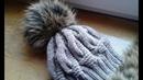 Шапка спицами из объемных кос Часть 2 Women's hats knitting