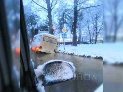 Непогода сыграла плохую шутку с водителем автобуса в Анапе