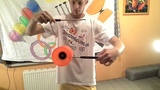 #17 Diabolo Tricks One-Handed Stick Trap - cool tutorial with slow-motion.