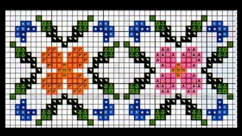 100 patrones de cenefas   Aprende punto de cruz paso a paso