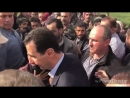 Some families of Eastern Ghouta meet President Assad during his visit in Ghouta 東古塔一些家庭與到訪的總統阿薩德見面