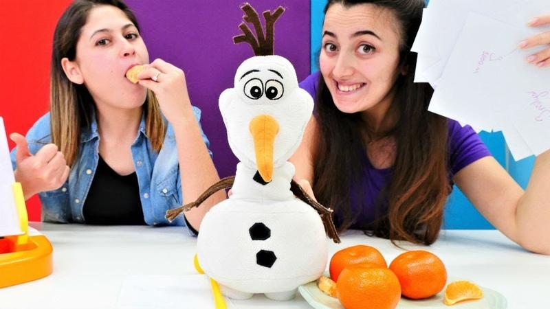 Ayşe ve Sevcan ile Challenge! Karlar Ülkesi Olaf sunucu! Tahmin et bakalım oyunu!