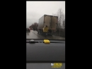 На ЕКАД перевернулся грузовик