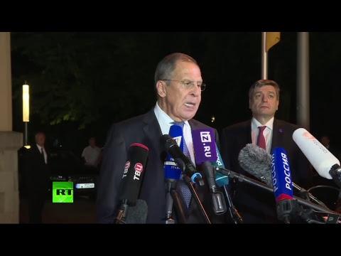 Пресс-подход Лаврова после встречи «нормандской четвёрки»