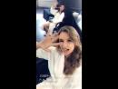 Публикация Сары Сампайо в «Snapchat»