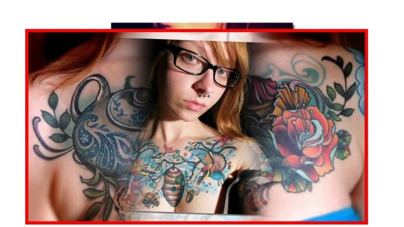 Татуировки на женской груди Красивые фото тату часть 1