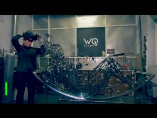 Weld Queen в деле: как художница-газоэлектросварщик создаёт воздушные скульптуры из металла