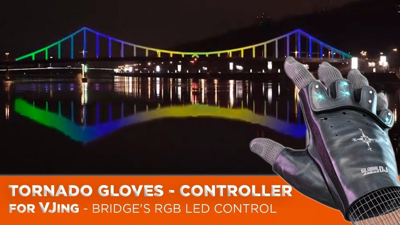 Bridge's RGB LED Control with Tornado Gloves Controller