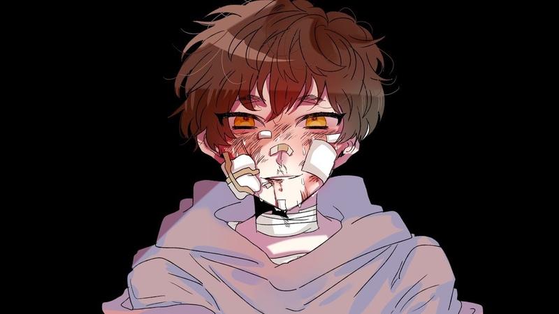 자캐로 smile meme (warning:bloodshed, Eye pain caused by sparkles)