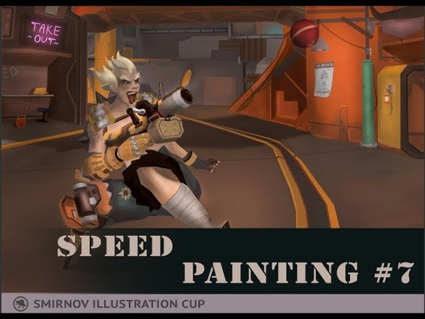 Speed painting 7 Junkrat. Smirnovillustrationcup