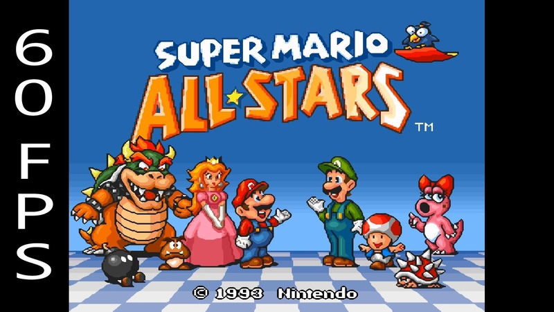 [60 FPS] Snes9X Emulator 1.53 | Super Mario All-Stars [1080p HD] | Super Nintendo