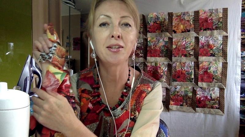 Лоскутный эфир 85. Как сшить роскошное одеяло в технике Акварель. Часть 2