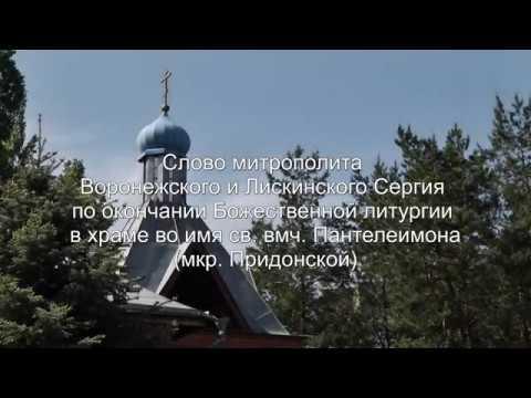 Проповедь митрополита Сергия в Пантелеимоновском храме (мкр. Придонской)