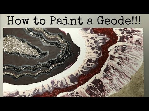 How to paint a geode! Wine Wednesday 1