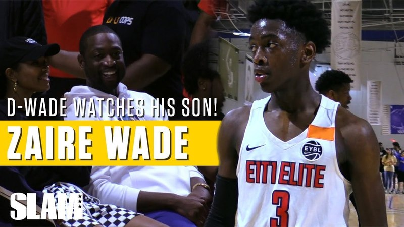 Dwyane Wade watches his son Zaire make Nike EYBL Debut Full Session 3 Highlights
