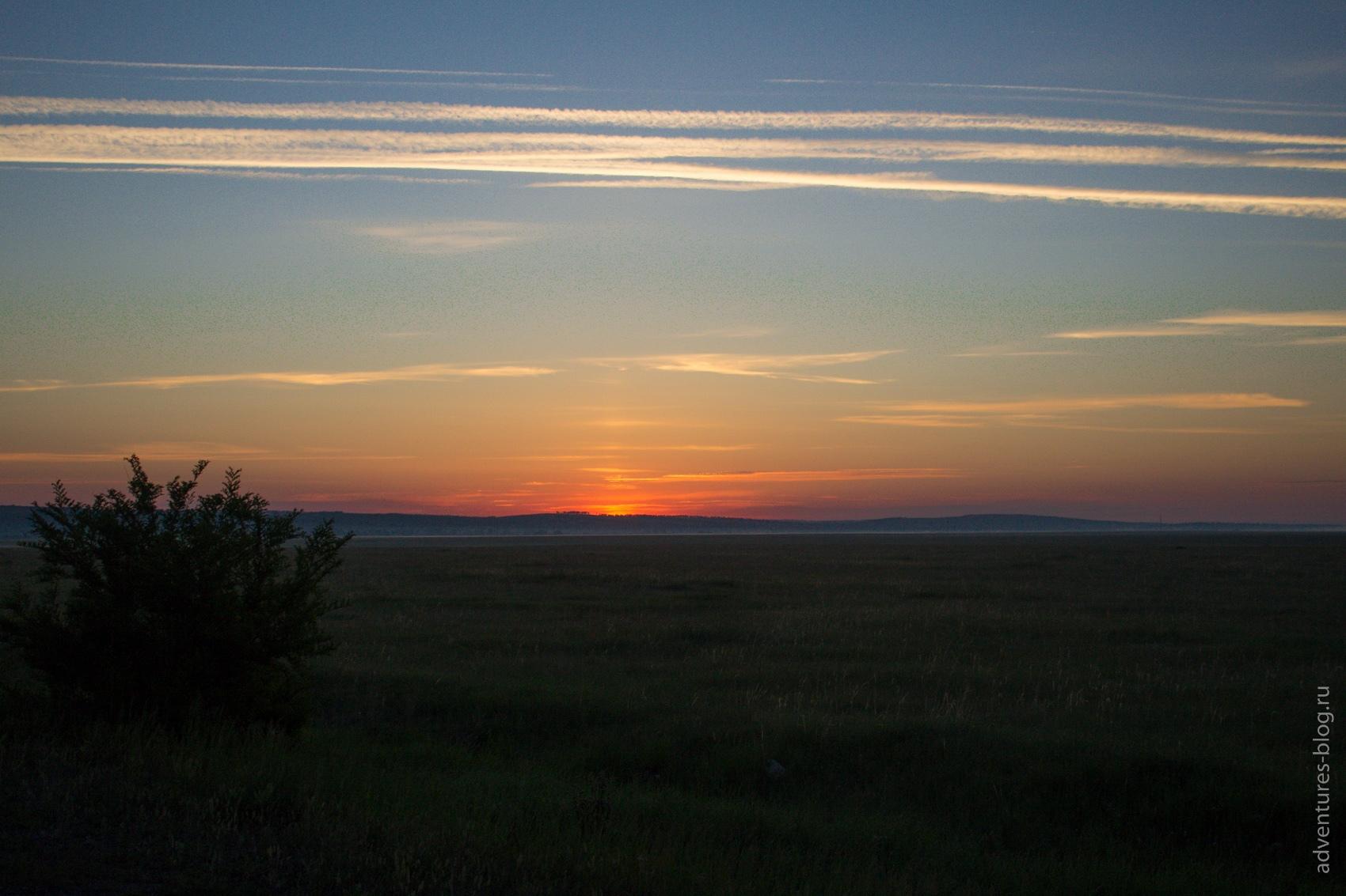 Рассвет вблизи Саяногорска