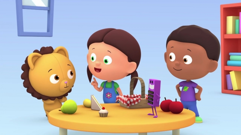 4. Цифры для детей. Счет до 4. Развивающий мультик- Считаем с Полой. Кто взял яблоко