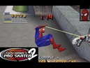 Tony Hawk's Pro Skater 2 PS1 Secret Skaters Spider Man