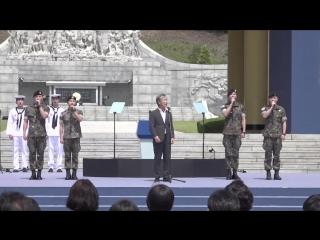 현충일 추념식서 애국가 제창한 '현역' 지창욱·강하늘·임시완·주원