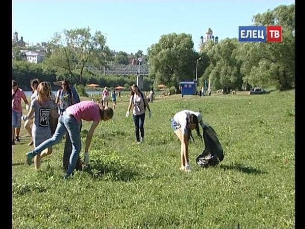 Елецкие добровольцы присоединились к Всероссийской экологической акции «Вода России»