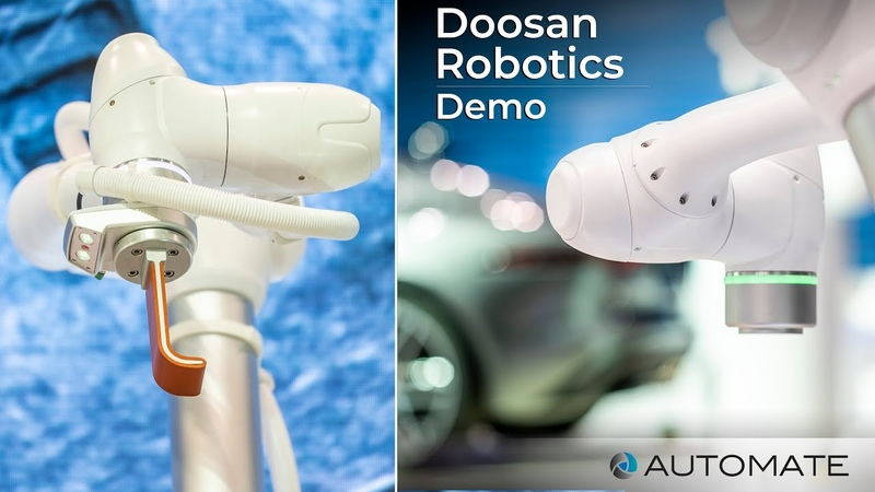 Doosan Robotics second Demo of robot model M0609, M1509, M1013, M0617 at Automate Show
