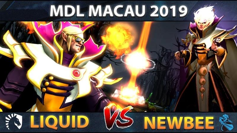 Liquid vs Newbee - Miracle- Player Perspective EPIC Invoker Show Refresher Build - Dota 2 MDL Macau