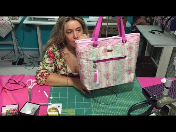 Aula 1 como fazer bolsa bag romântica - How to make an EASY Bag by Adriana Dourado