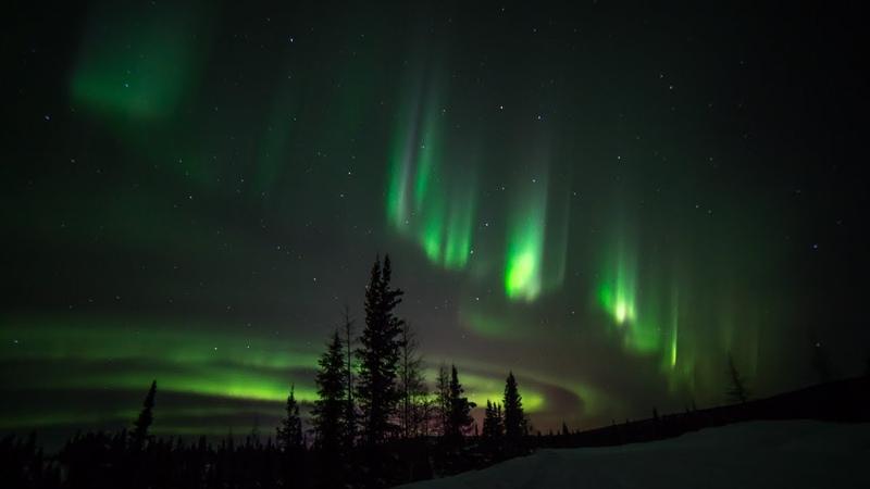 Relaxing Rare 4K Aurora Borealis Real Time Video Canada Quebec