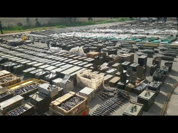 Syrian Army found more US and Israel made weapons in liberated areas - YouTube