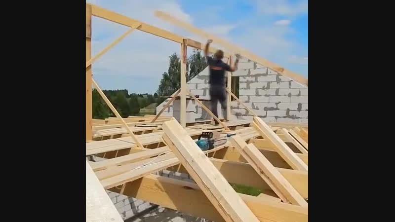 Строительство крыши. Стропила - Проект « Дача »