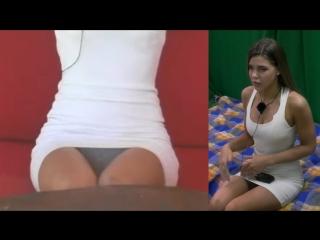 Valeria gold upskirt on tv show