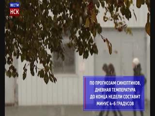 Снегопады и минусовая температура пришли в Новосибирск до конца недели