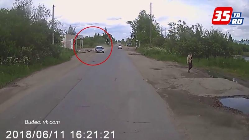 В Вологде ребенок на велосипеде попал под колеса иномарки