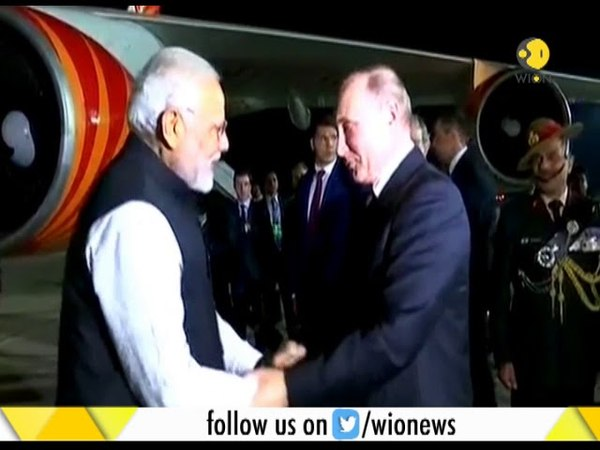 Russian President Putin sees off PM Modi at airport