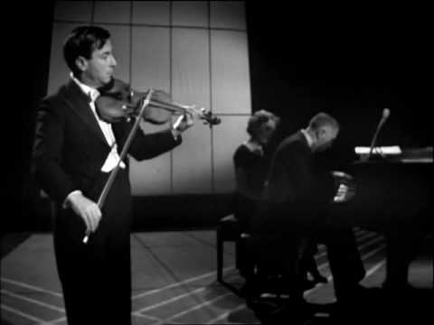 NATHAN MILSTEIN plays Asturiana (Manuel de Falla) with ERNEST LUSH. London, 1957.