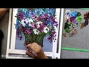 Step by Step acrylic painting on canvas for beginners Daisy flower painting tutorial Floral art