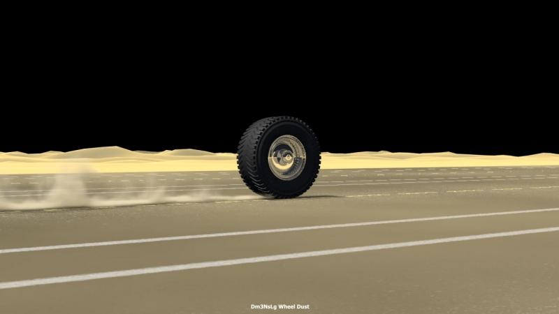 Dm3NsLg Wheel Dust (3ds Max   FumeFX)