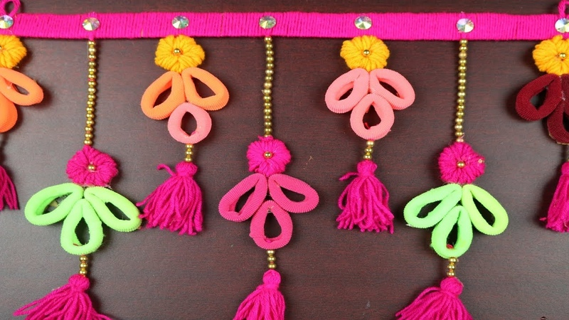 Amazing Woolen Crafts Ideas    How to Make Woolen Wall Showpiece For Home Decor -DIY arts and crafts