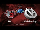 DK vs Vici Gaming WPC ACE League Day 1 game 2