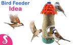 DIY Bird Feeder Idea Make Bird Feeder recycling Plastic Bottle for Home Summer Craft Idea