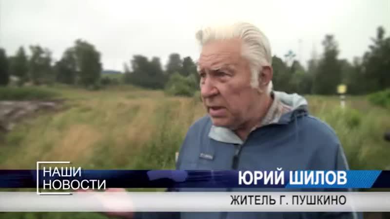 Строители засыпали озеро во время строительства развязки на Ярославском шоссе
