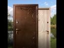 Двери для загородного дома Порошковое напыление и МДФ