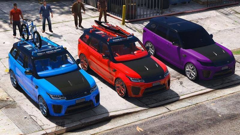 GTA 5 mod Range Rover Sport SVR 2018