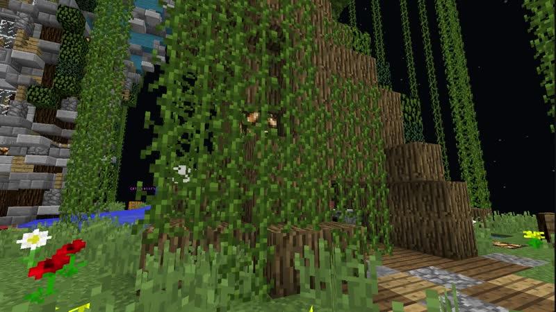 [gab] Забираемся на дерево на спауне скай-блока