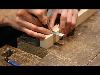 Joint venture ep. 48_ through mortise and tenon with mitered faces (japanese joi