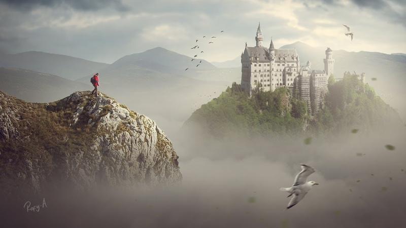 Photoshop Fantasy Landscape Compositing Photo Manipulation Tutorial